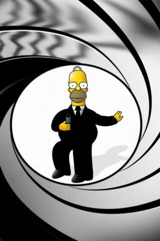 Homer bond image et logo anim gratuit pour votre mobile for Image pour telephone portable gratuit