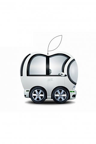 voiture apple image et logo anim gratuit pour votre mobile. Black Bedroom Furniture Sets. Home Design Ideas